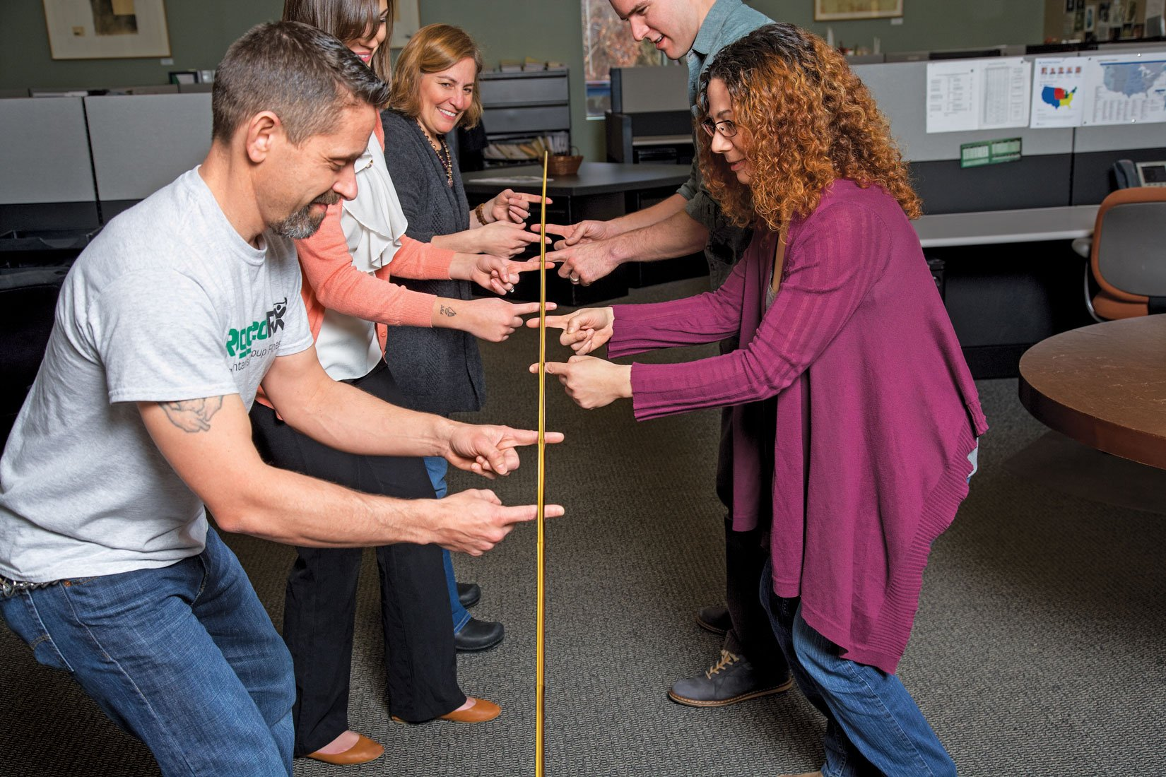 Helium Stick Game - Teamwork Building & Leadership Tool For Office, Classroom