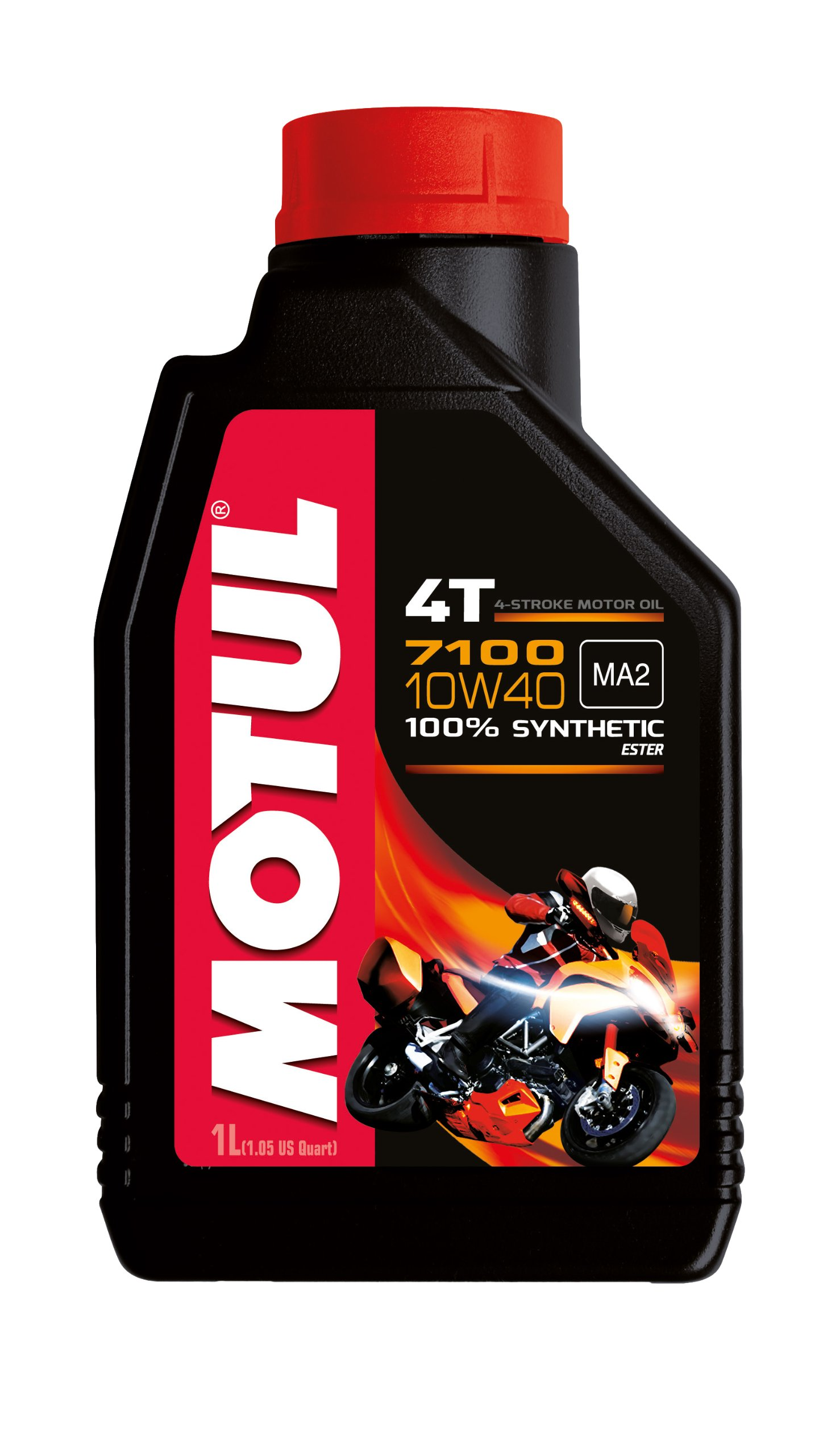 Motul 104091 7100 Ester 4T Fully Synthetic 10W-40 Petrol Engine Oil for Bikes (1 L) product image