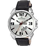 Swisstone Analogue Silver Dial Men's & Boy's Watch - Sw-Wt95-Slv-Blk