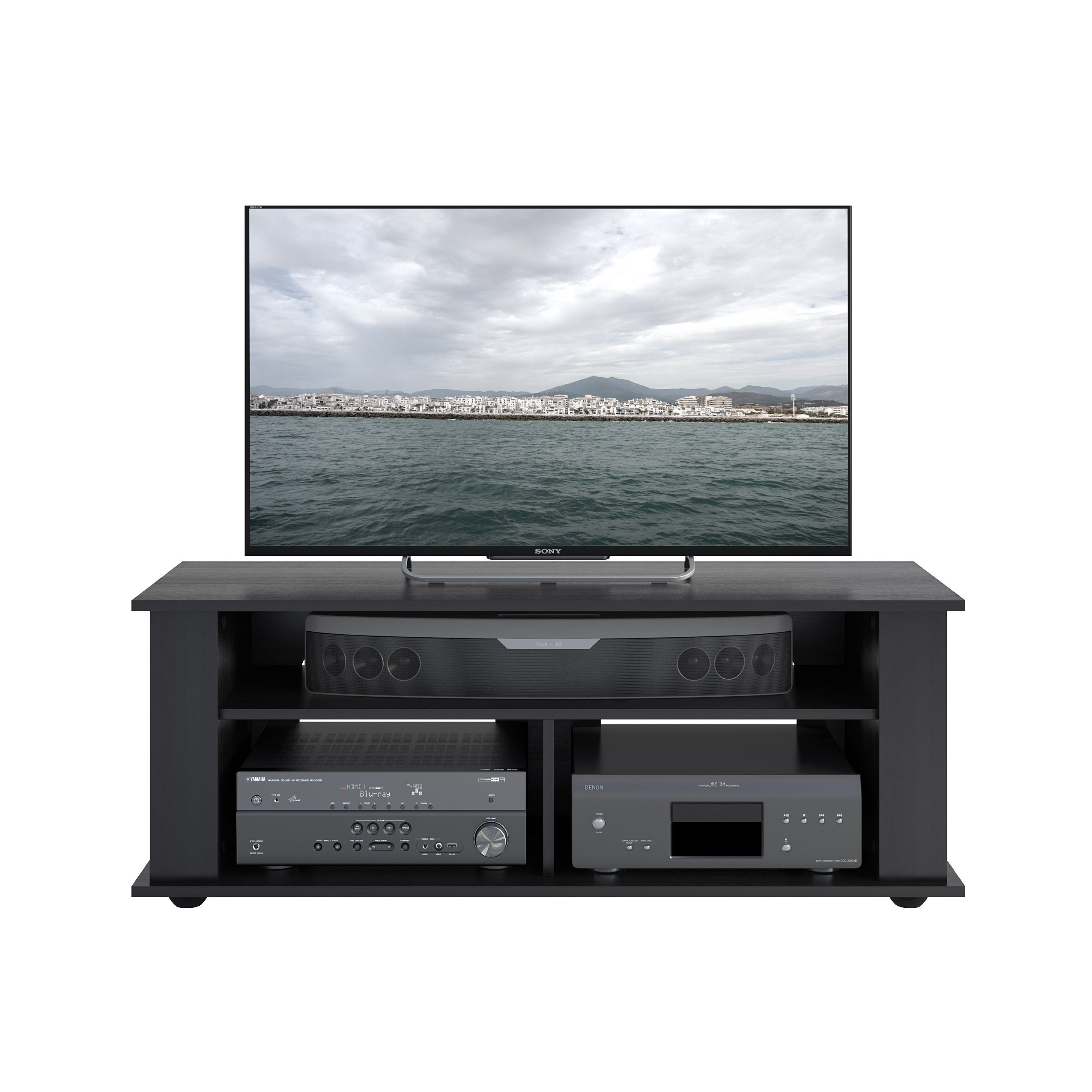 CorLiving TBF-604-B Bakersfield Ravenwood TV/Component Stand, Black by CorLiving (Image #2)