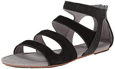 TSUBO Women's Barbra Ray Gladiator Sandal, Black Ray, ...