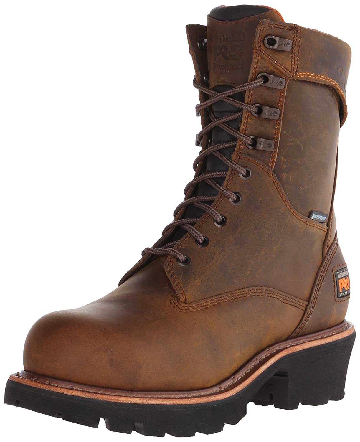 Timberland PRO メンズ Brown Distressed Leather 13 2E US  B00M2ON7SO