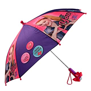 Nickelodeon Little Girls' JoJo Siwa Rainwear Character Umbrella, Purple/Pink, Age 3-7