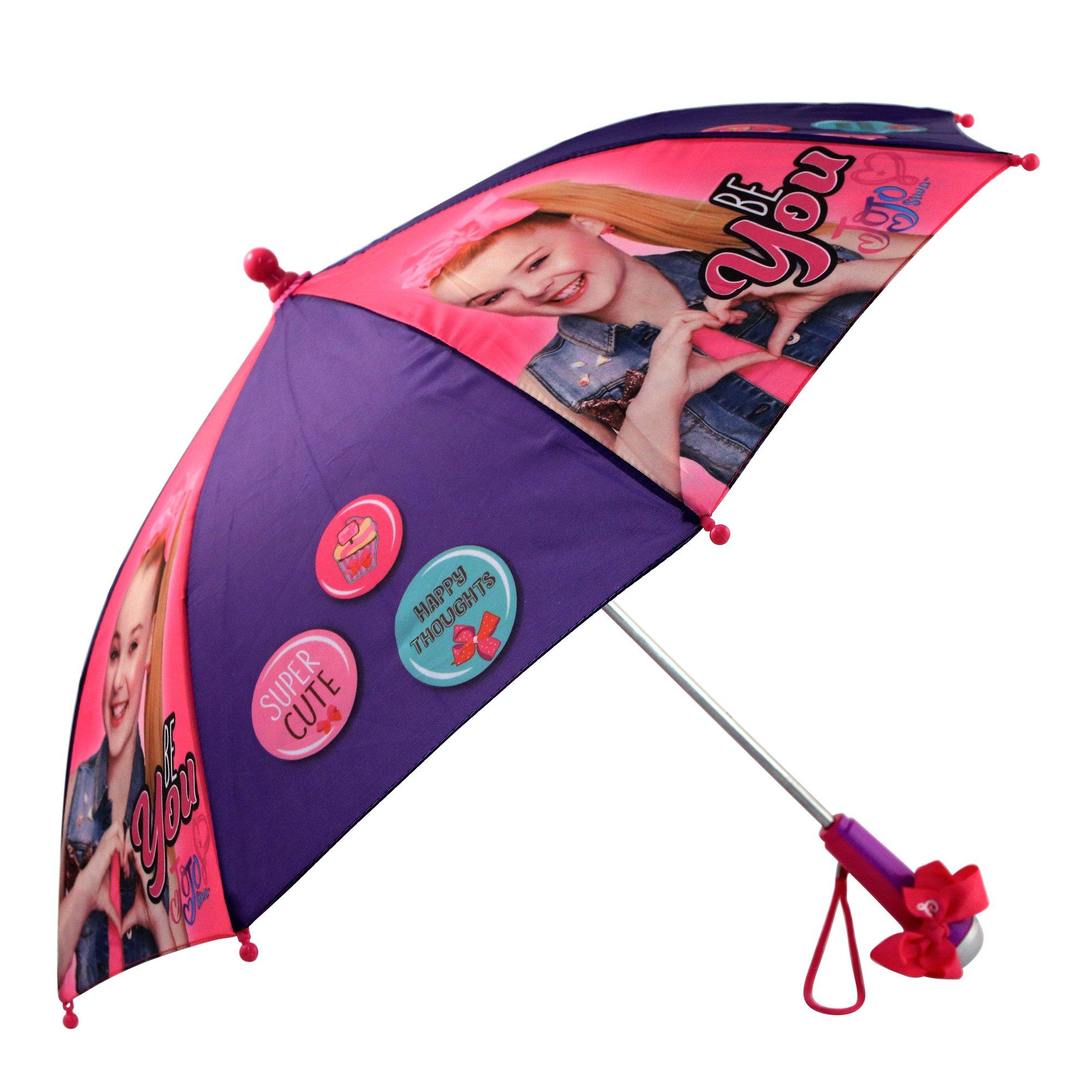 Nickelodeon Little Girls' Jojo Siwa Rainwear Character Umbrella, Purple/Pink, Age 3-7 by Nickelodeon (Image #1)