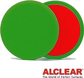 ALCLEAR 2 5516015G Flachpads Diameter 160 x 15 mm, Green, Set of 2