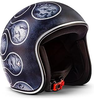 Rebel R3 de Flames – Jet Casco de Retro de motocicleta casco Roller de casco de