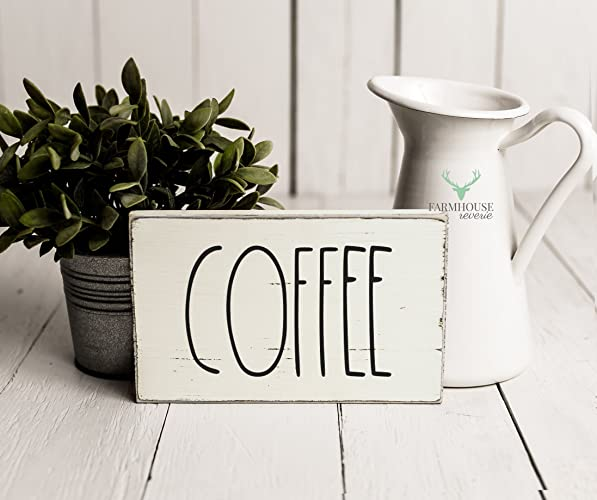rustic coffee sign rustic wood sign farmhouse sign inspired rae dunn sign