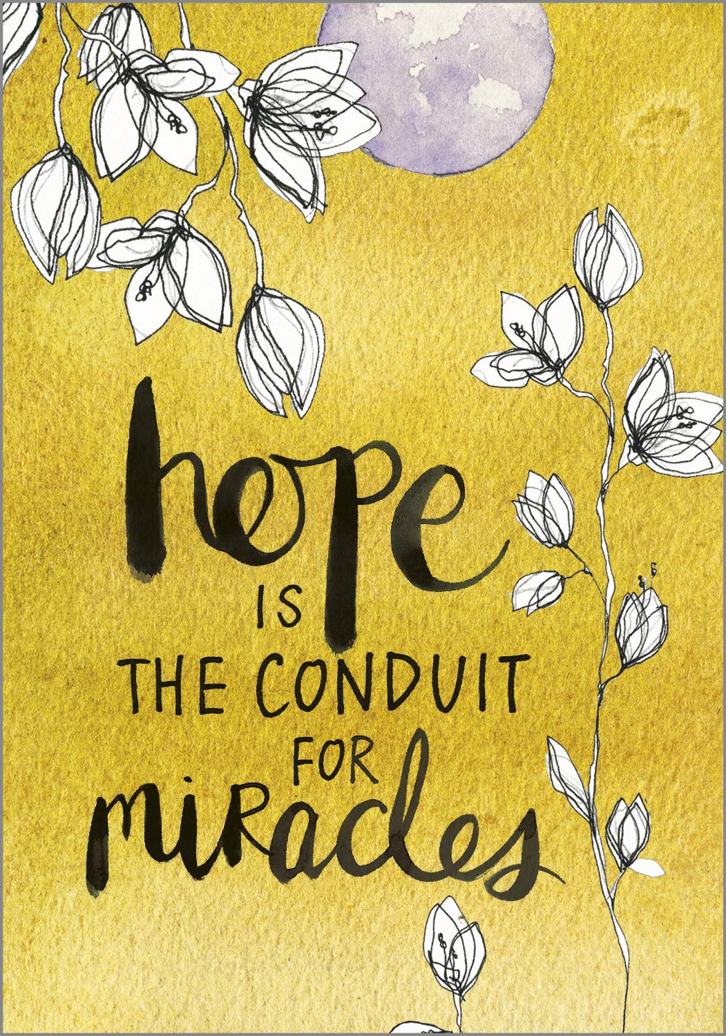 Hope is the conduit for miracles - COME DISCOVER more inspiring words of wisdom, encouraging quotes, and affirmations on Hello Lovely Studio.