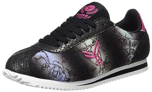 Yumas Reychel, Zapatillas para Mujer, Negro, 38 EU: Amazon.es: Zapatos y complementos