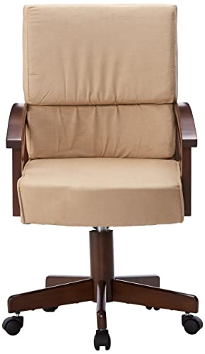Marietta Upholstered Arm Game Chair Rustic Tobacco and Tan