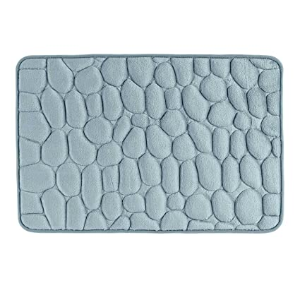 Homescapes Memory Foam Duck Egg Blue Bath Mat Non Slip Full Size 50