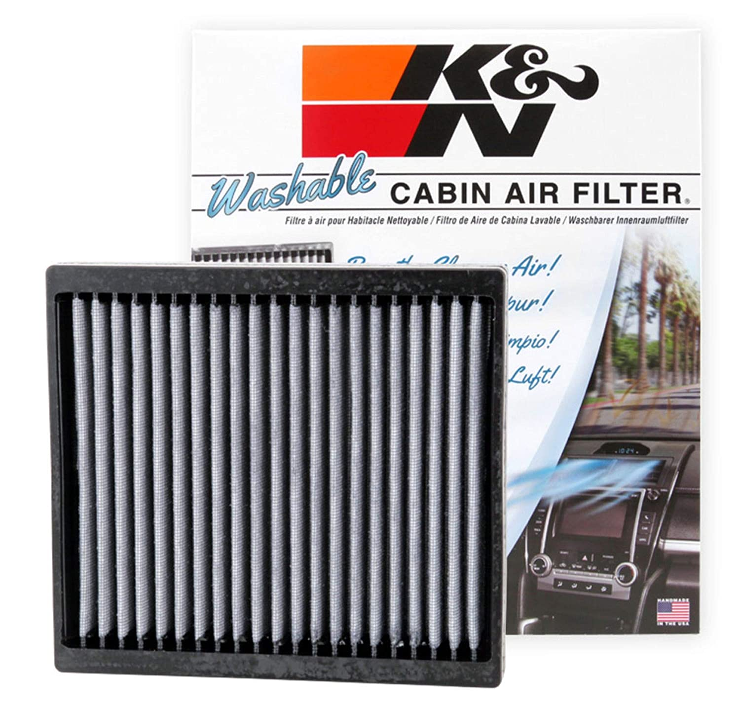 Amazon.com: K&N VF2004 Washable & Reusable Cabin Air Filter ...