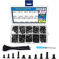 Juasky 500pcs M2 M2.5 M3 Laptop Screws for SSD M.2 Dell Lenovo Toshiba Gateway Samsung HP IBM Sony Acer Asus Hard Disk…