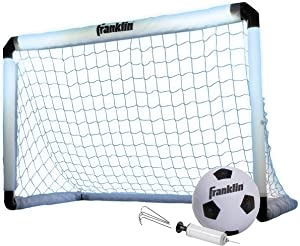 Franklin Sports Soccer Goal and Ball - Glow In The Dark/Light Up - 39.5 x 25.5 Goal