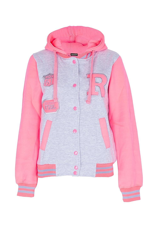 NOROZE Béisbol R Varsity chaqueta sudadera capucha sudadera para Mujeres Señoras