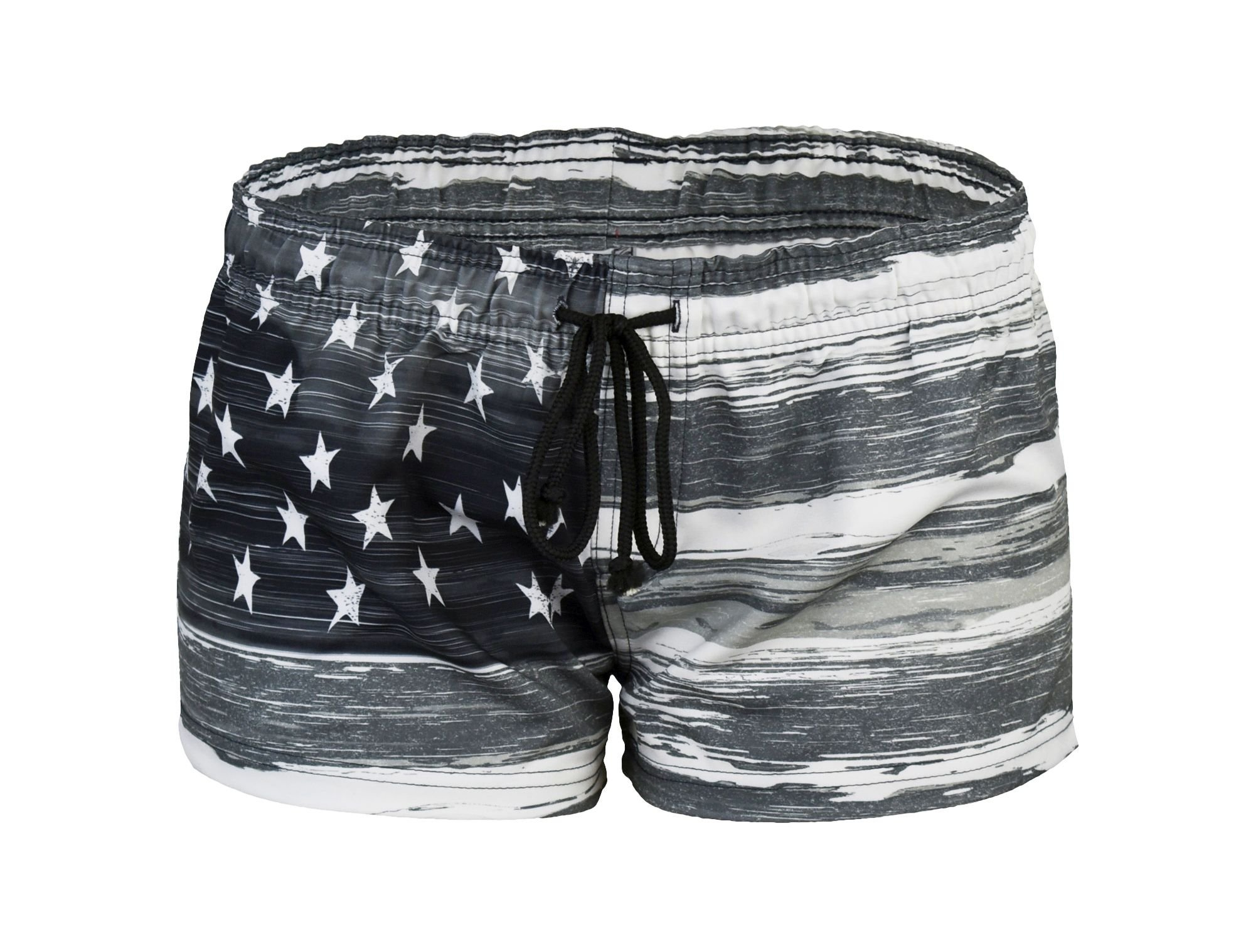 VBRANDED Women's American Flag Inspired Board Shorts Black S