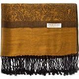 Paisley Pashmina Silk Scarf Shawl Jacquard Cashmere Wrap Stole Two Tones Reversible