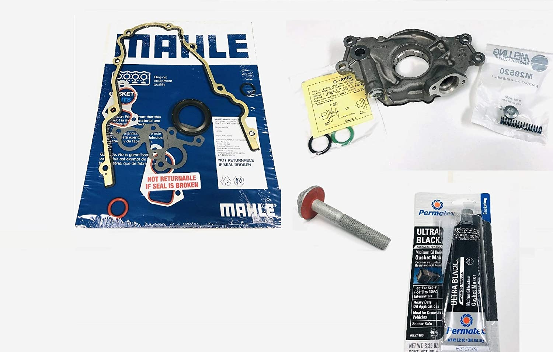 LS High Volume Oil Pump Change Kit with Gaskets Balancer Bolt RTV compatible with 1999-2015 GM 5.3L 6.0L