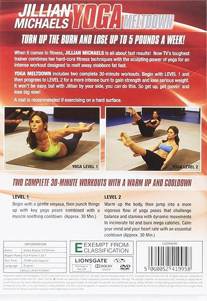 Jillian Michaels: Yoga Meltdown Edizione: Regno Unito Italia DVD ...