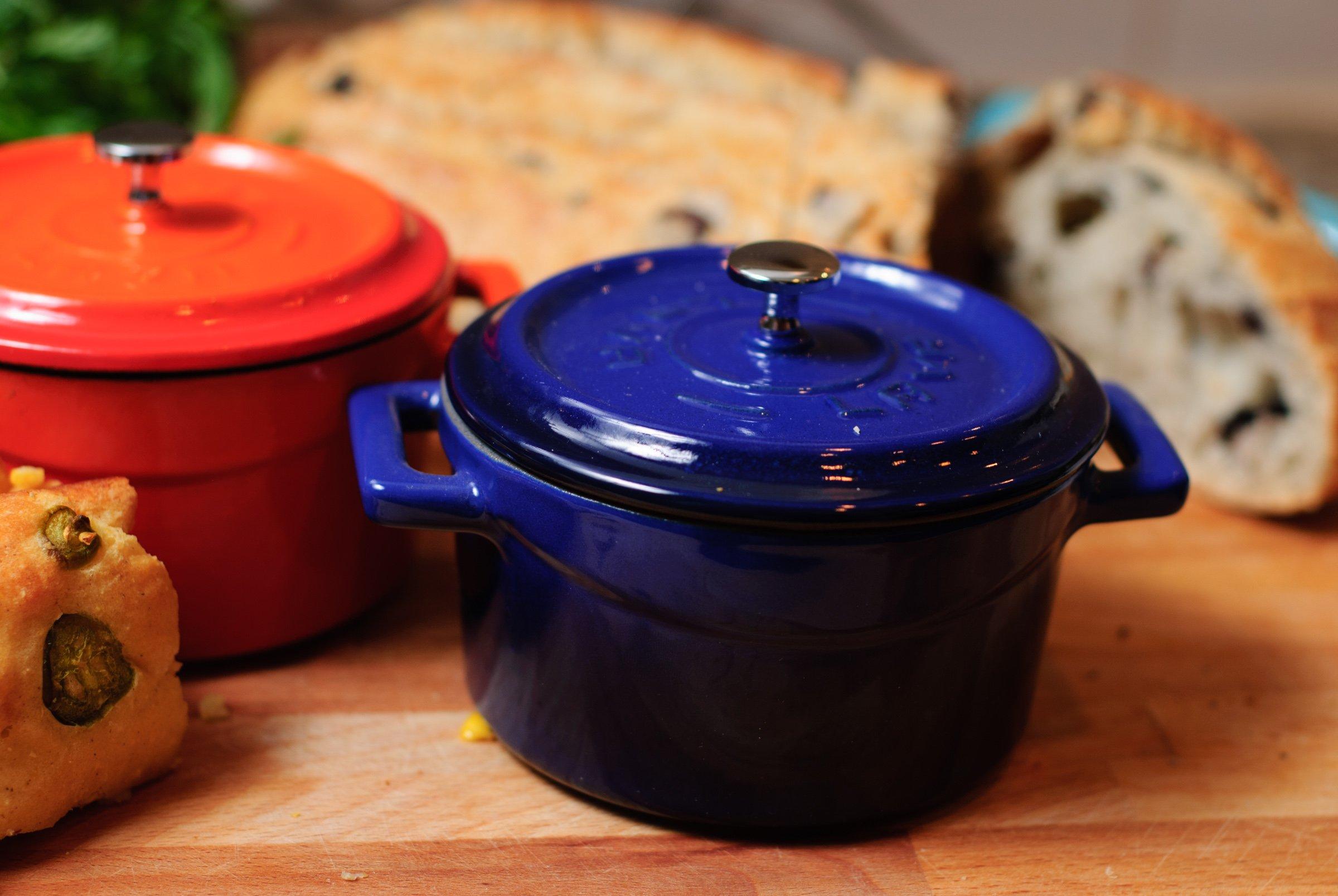 Lava Signature Enameled Cast-Iron Mini Dutch Oven - 12 ounce, Cobalt Blue by Lava Cookware (Image #2)