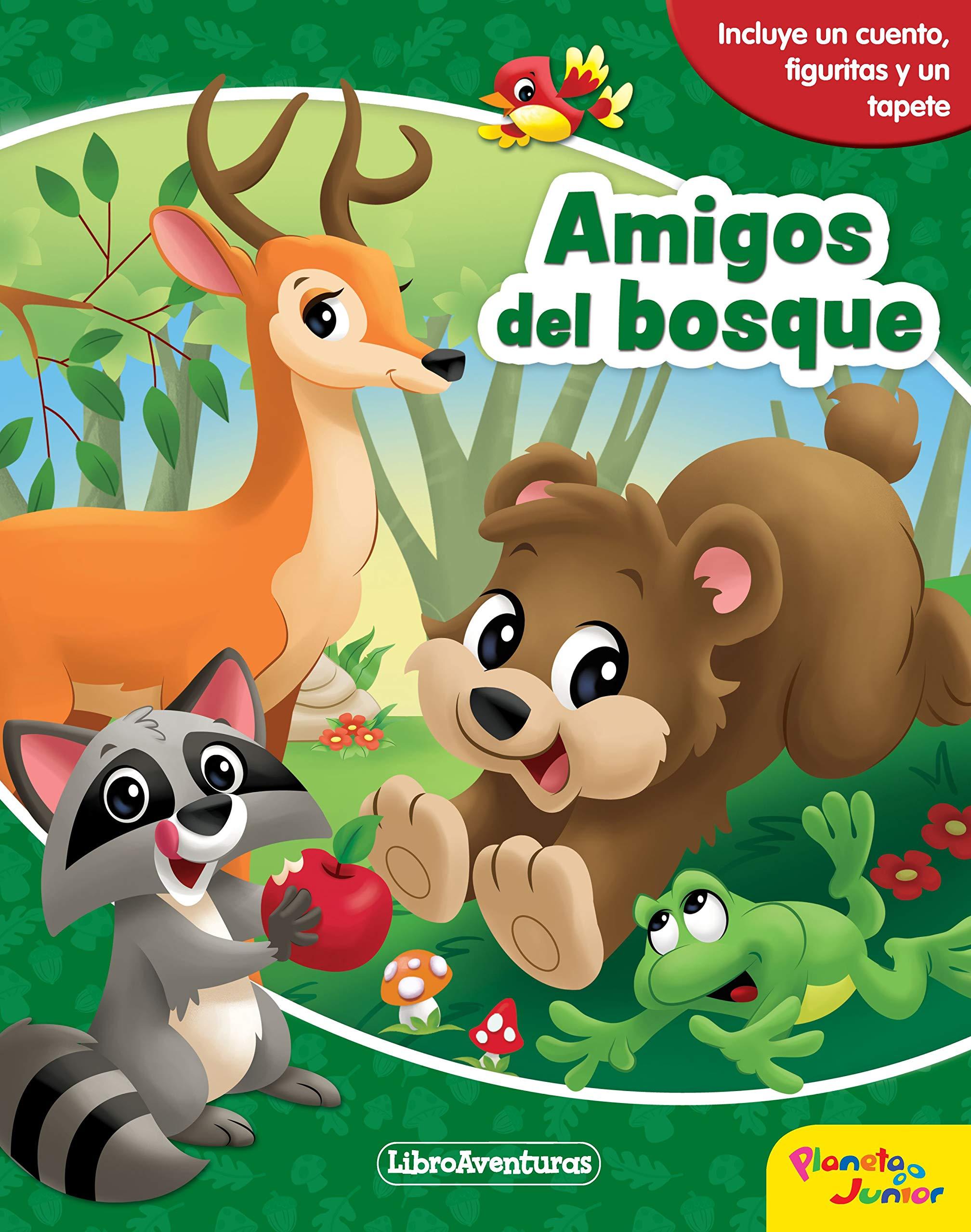 Amigos Del Bosque Libroaventuras Incluye Un Cuento Figuritas Y Un Tapete Aa Vv Editorial Planeta S A Amazon Es Libros