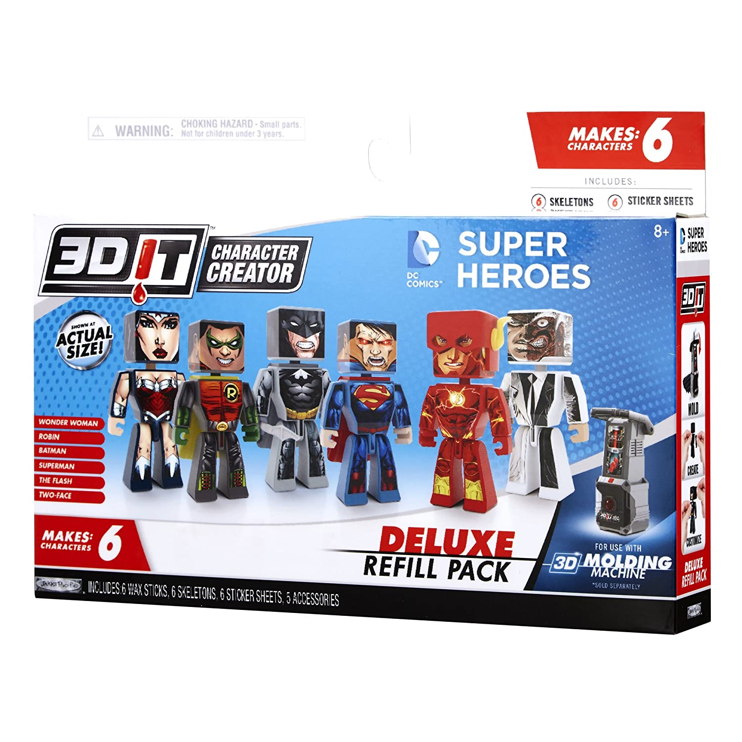 3D Character Creator DC Comics Deluxe Refill Pack Novelty Toy