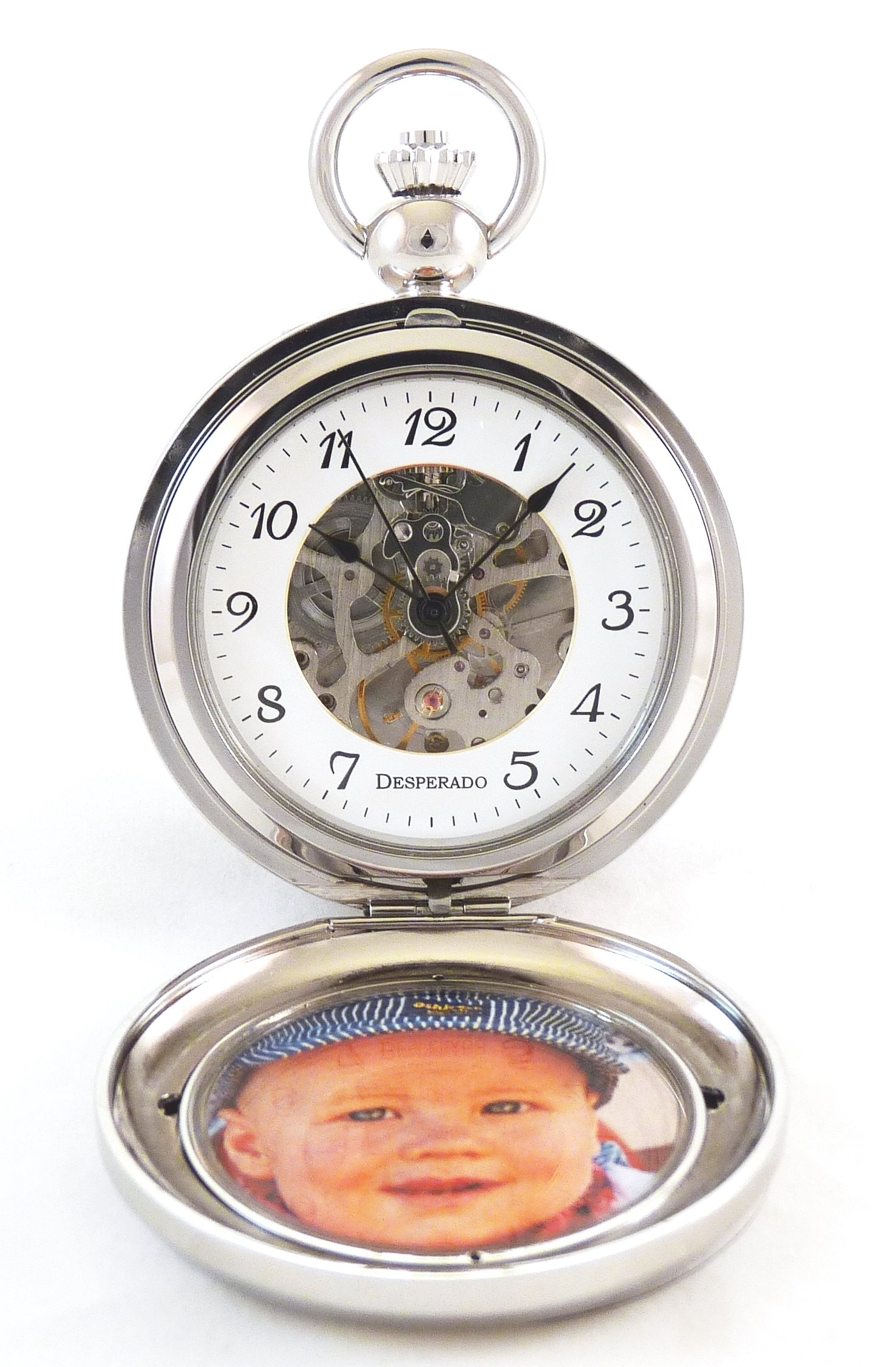 Desperado''Seaside'' Chrome Photo Insert Picture Frame Pocket Watch Built in Stand by Desperado (Image #3)