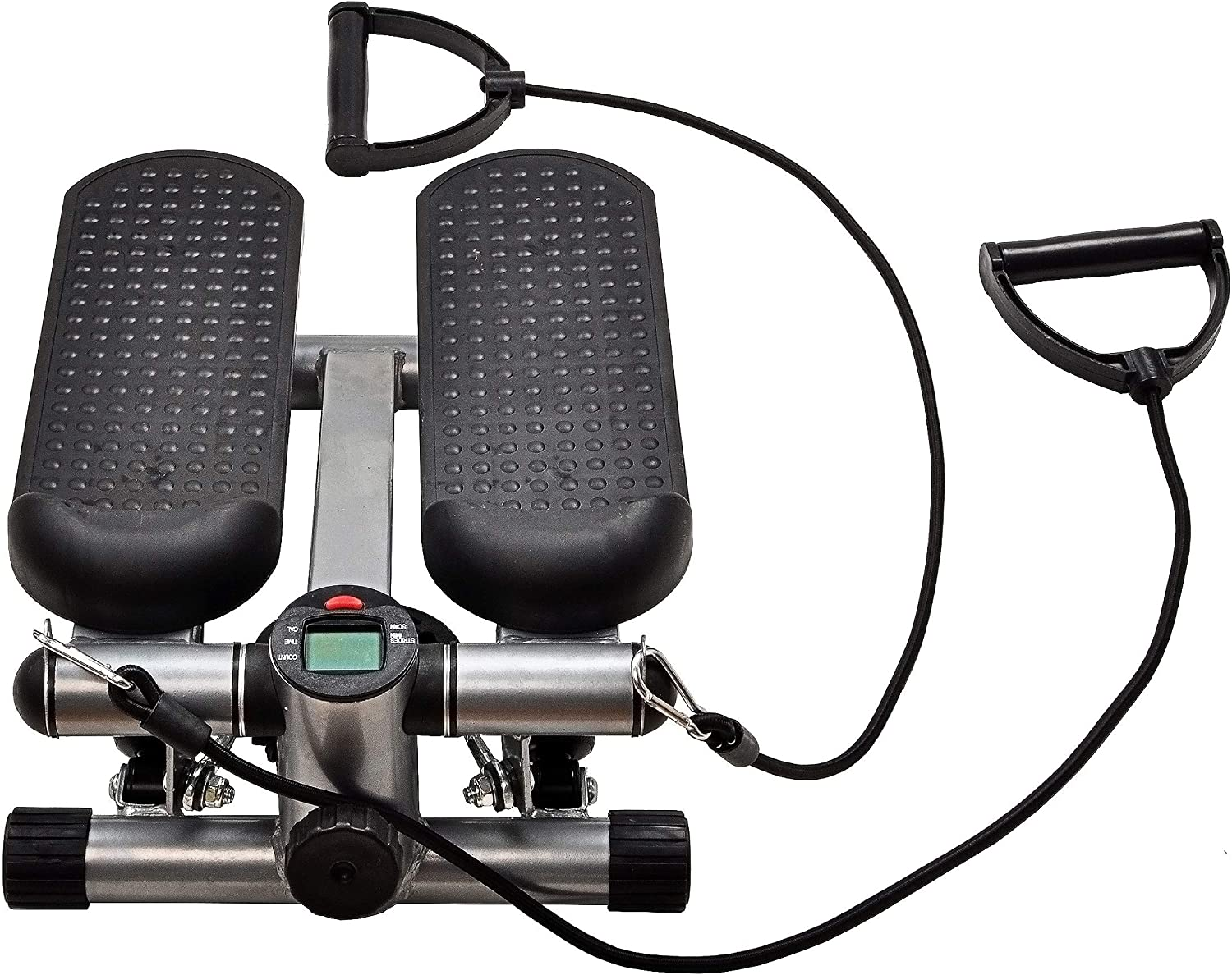 BalanceFrom Adjustable Stepper Stepping Machine with Resistance Bands, Gray