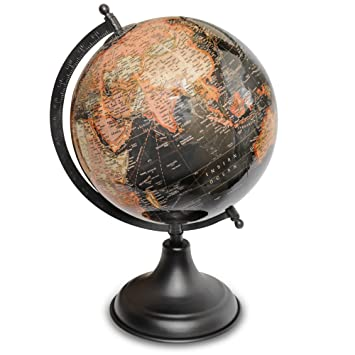Superieur World Globe   (8u0026quot;/20cm Diameter Ball) Desktop Rotating Antique  Decorative World