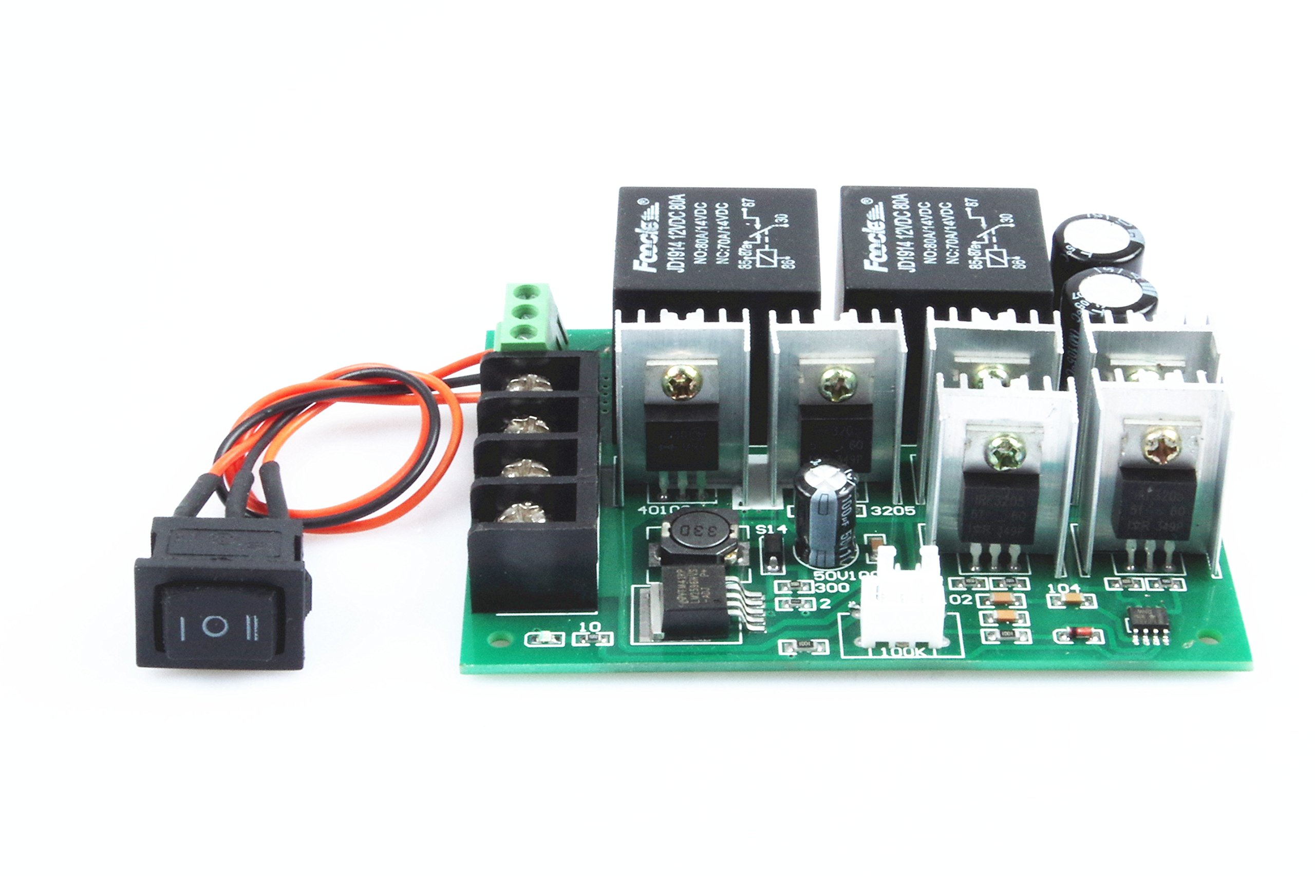 Knacro Pwm Speed Controller Electronic Governor 40a Dc 10v 50v Pwmmotorcontrollerwithforwardandreversejpg 12v 24v 36v 48v Brushed Motor Maximum Power Of 2000w Third Gear