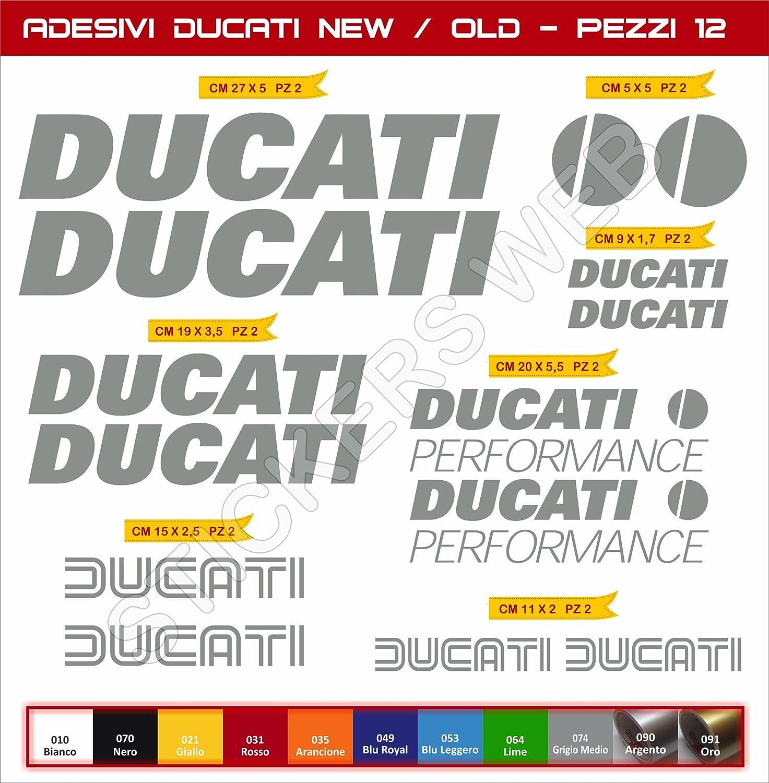 SCEGLI COLORE Adesivi stickers DUCATI logo nuovo-vecchio new-old kit 12 Pezzi moto motorbike pegatina Cod.0586