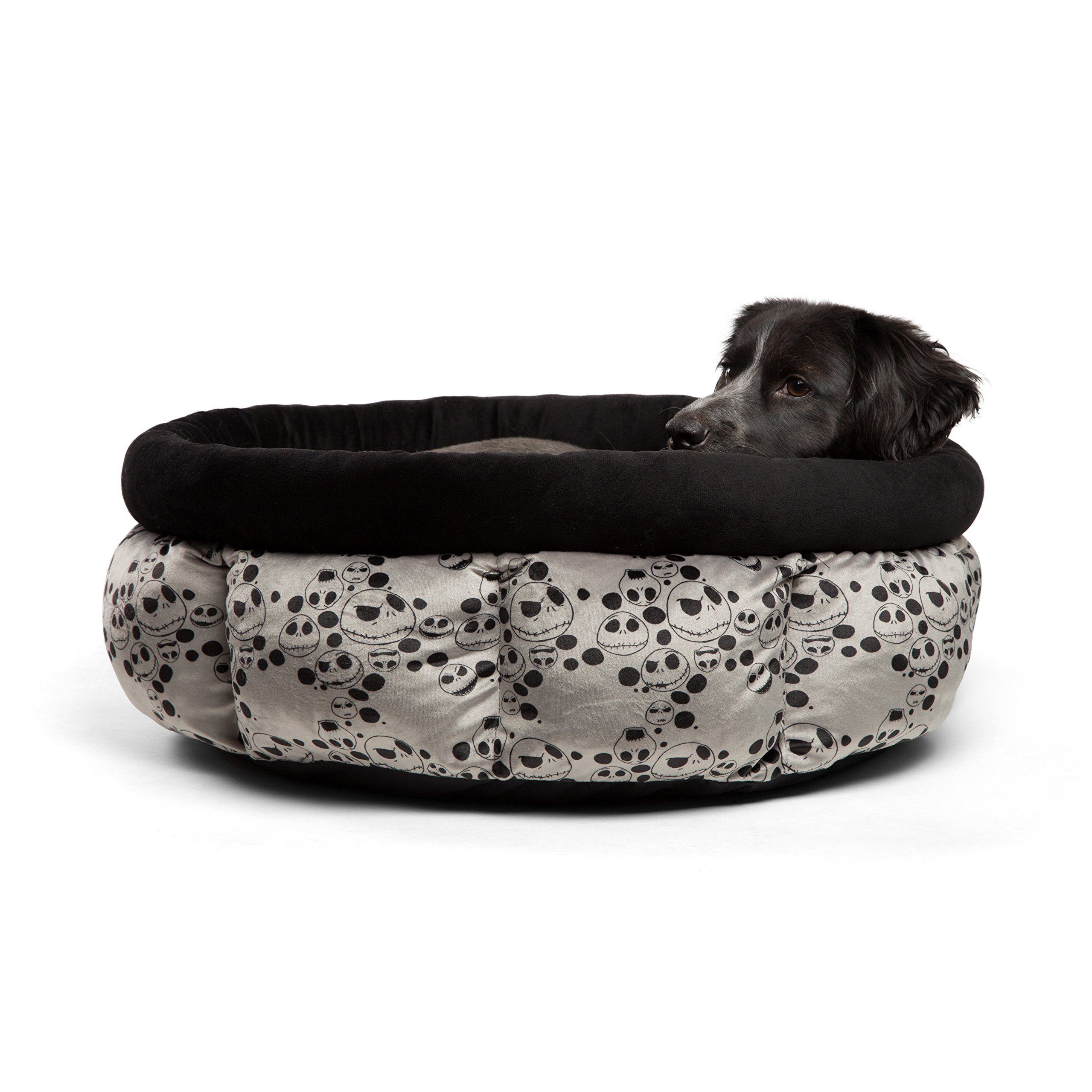 Disney Nightmare Before Christmas Jack Skellington Jumbo Cuddle Cup Dog Bed / Cat Bed, Machine Washable, High Walls for Deep Sleep, Dirt/ Water Resistant Bottom, For Pets upto 20lbs by Disney