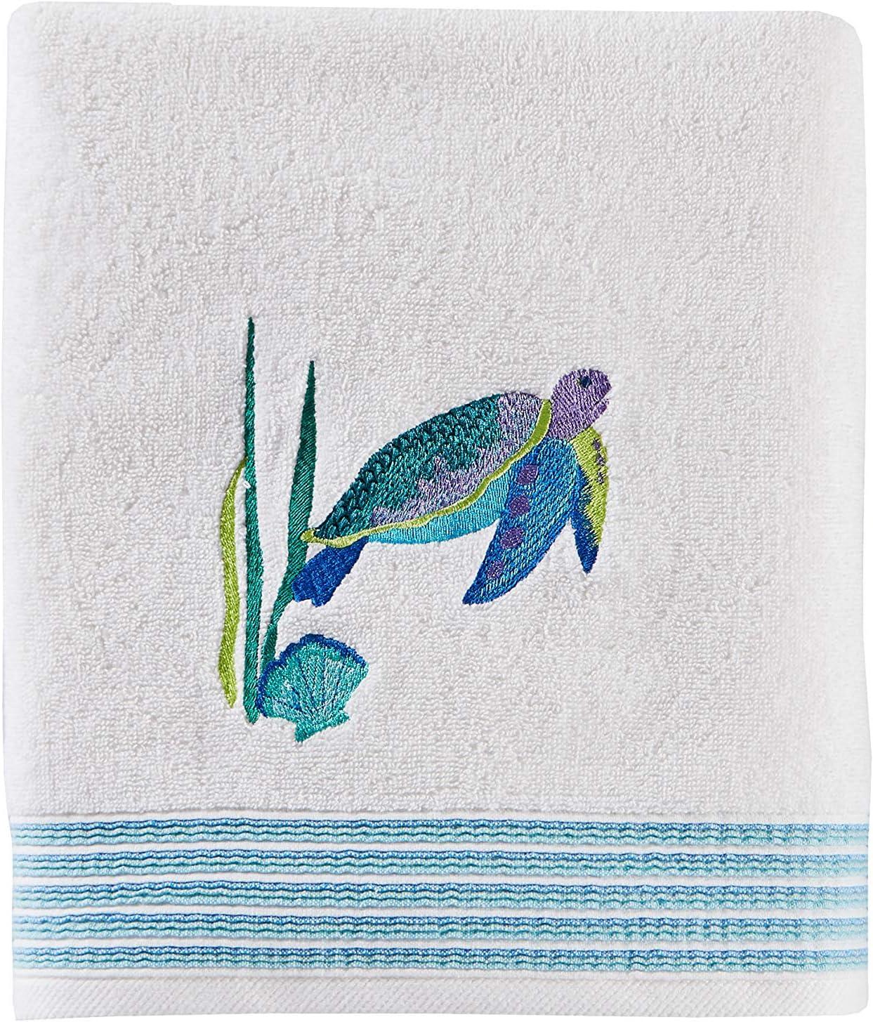 SKL Home by Saturday Knight Ltd. Watercolor Ocean Bath Towel, White