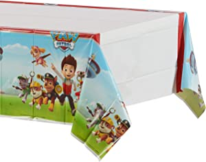 """American Greetings Paw Patrol Party Supplies Plastic Table Cover, 54"""" x 96"""""""