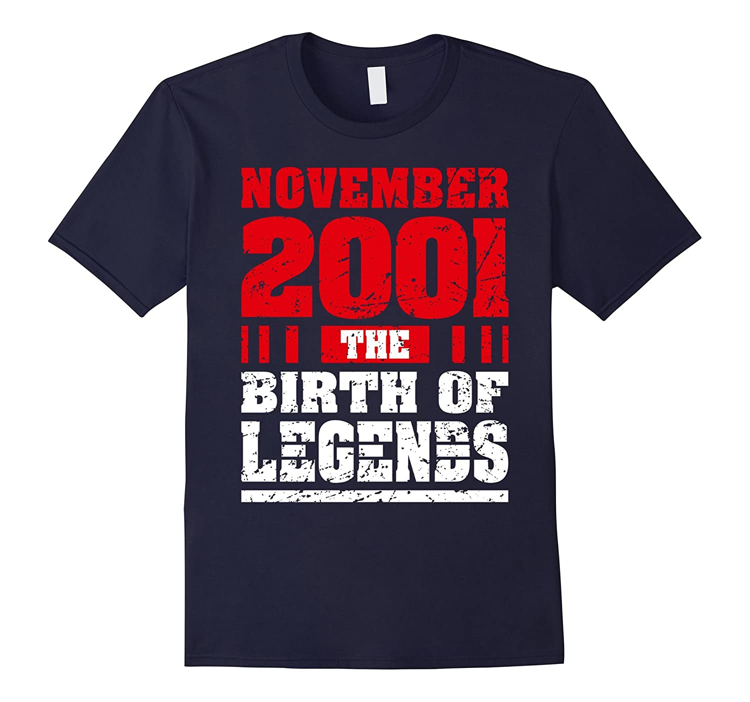 16 Years Old 16th Birthday Born in November 2001 Teen Shirts-T-Shirt