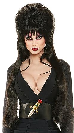 24f4feb55d0f90 Amazon.com: Rubie's Elvira Deluxe Wig: Clothing