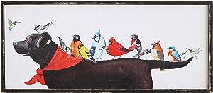 Creative Co-op Birds & Dog Framed Wall Décor