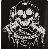 Discharge Born To Die Flag Fabric Poster 48 x 48in