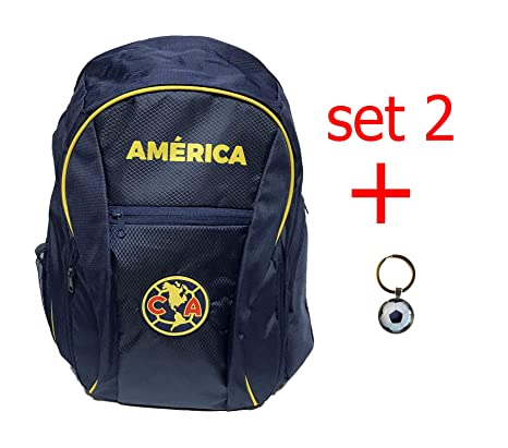 Club America backpack school mochila bookbag cinch shoe bag official (NAVY)