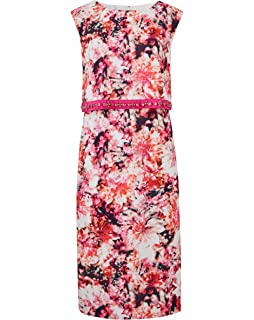 9e8b1867a0 Simply Be Womens Joanna Hope Jewel Trim Maxi Dress Hot Pink