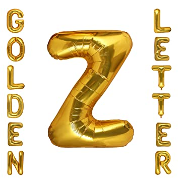 Letter Z Pictures.Gold Alphabet Letter Balloons Mylar Foil Birthday Party Decorations 40 Inch Letter Z