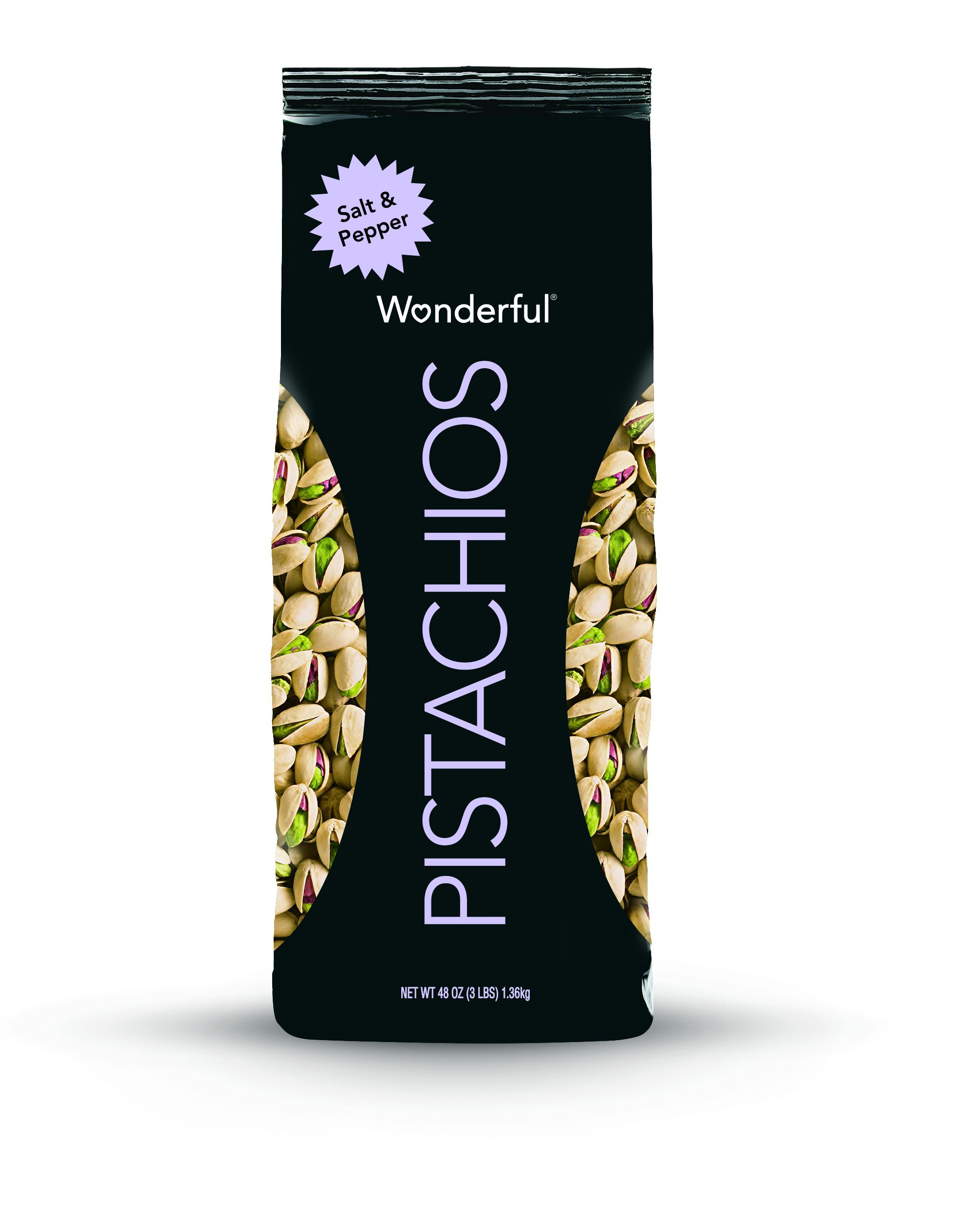 Wonderful Pistachios, Salt and Pepper Flavor, 48 Ounce Bag by Wonderful Pistachios & Almonds