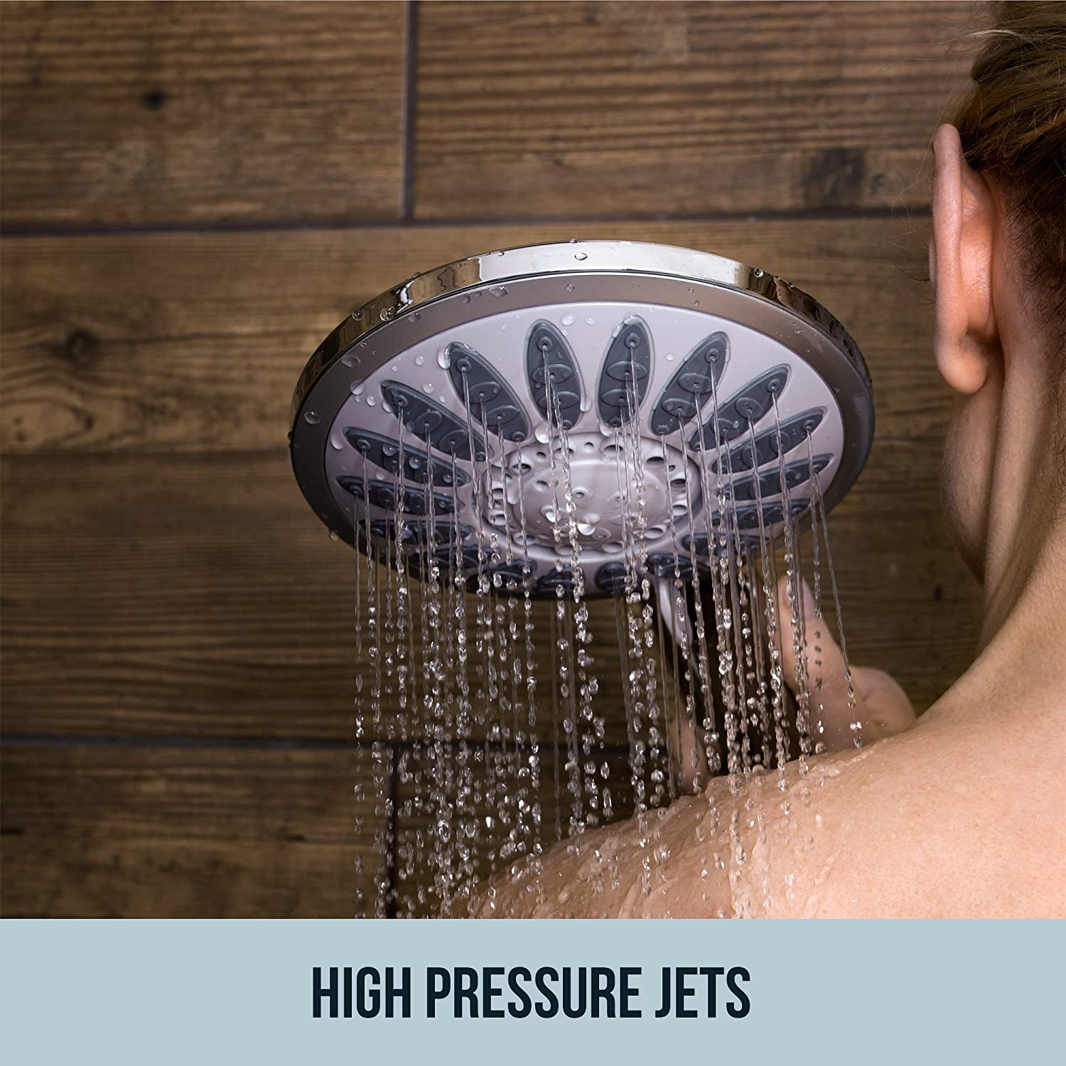 Shower Head with Removable Hand Held Wand - Luxury Multi Spray ...