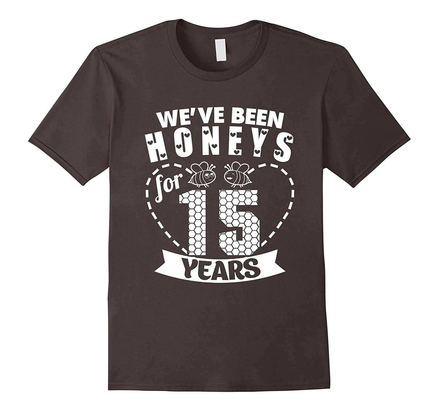 15th Wedding Anniversary Tee Shirt Marriage Gift For Couples Pl