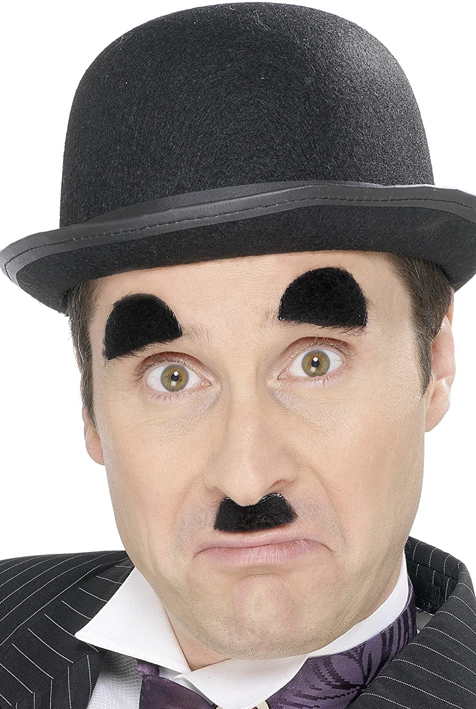 Smiffys Charlie Chaplin Mustache and Eyebrows