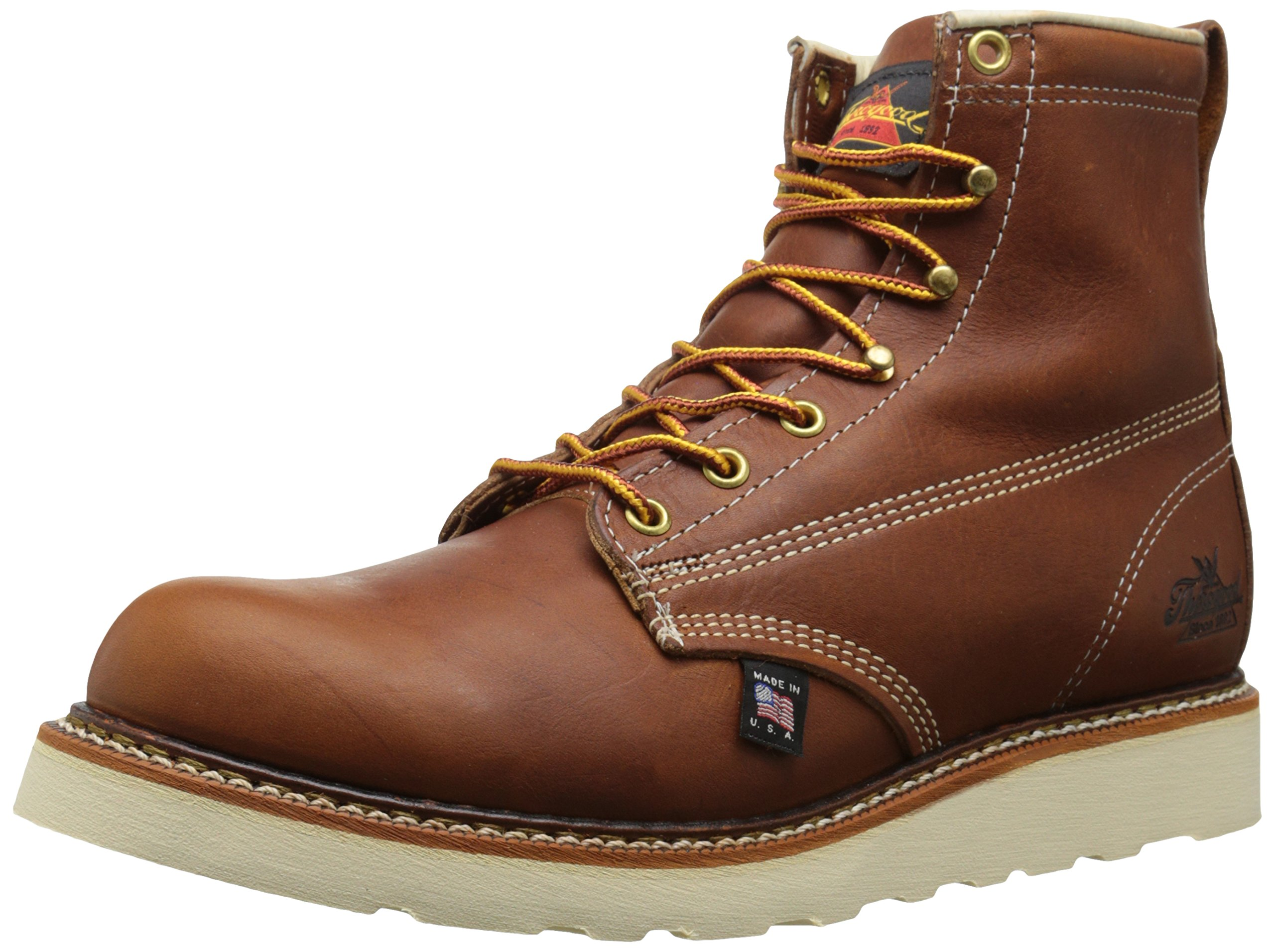 Thorogood American Heritage 6'' Plain-Toe Boot, Tobacco Gladiator, 9 2E US