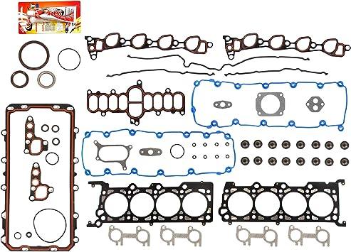 Domestic Gaskets Engine Rering Kit FSBRR8-21111\0\1\1 Fits 97-99 Ford E-Series F-Series Lincoln 5.4 SOHC 16V Full Gasket Set 0.010 Oversize Main Rod Bearings 0.25mm Standard Size Piston Rings