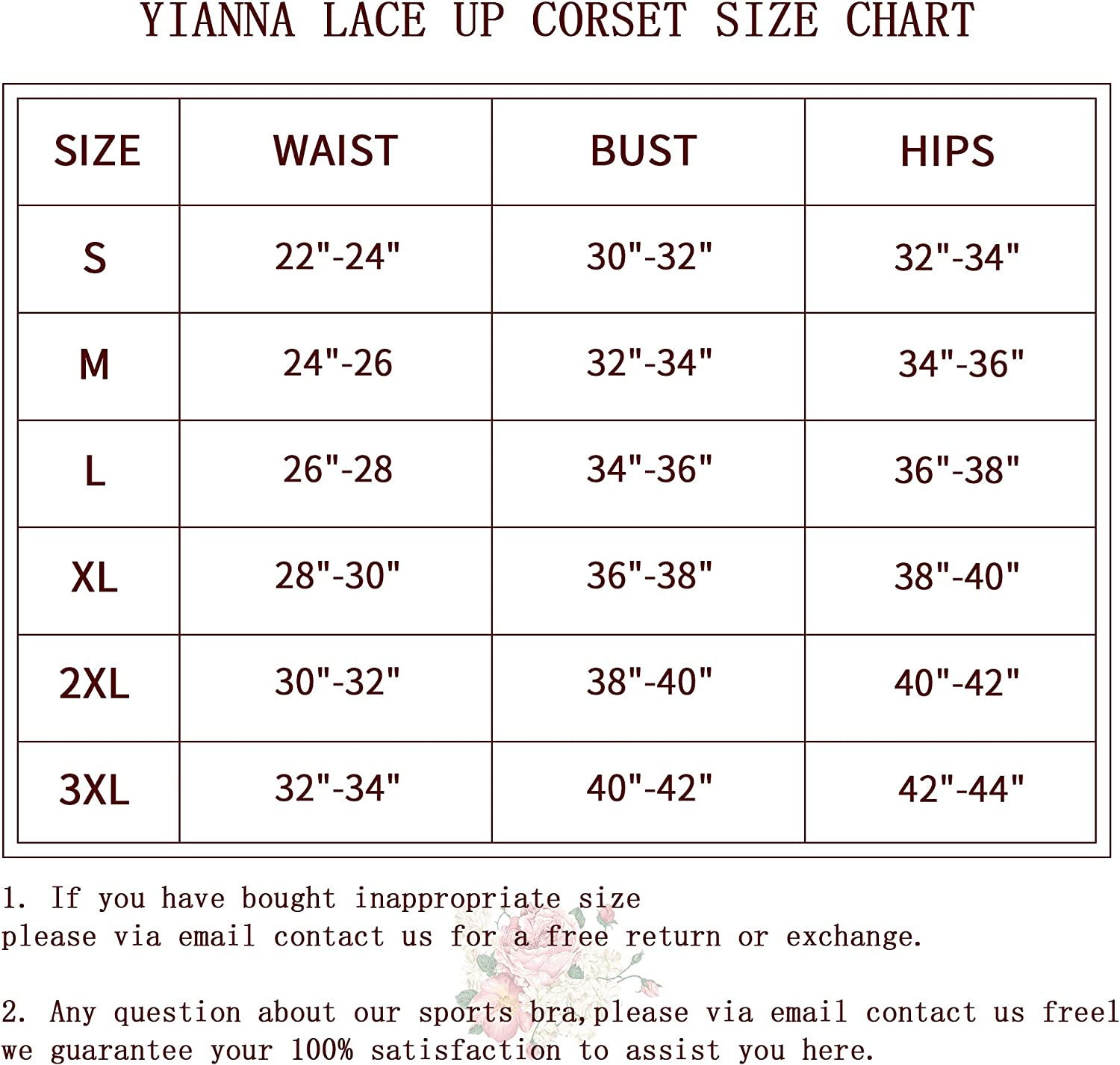 YIANNA Breathable Thin Type Lace Corset Strapless Wedding Dress Corset Bustiers: Clothing
