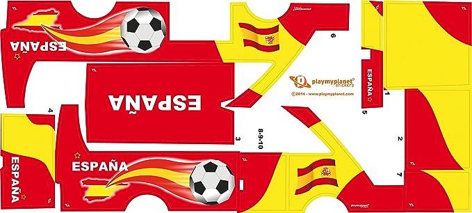 Stickers Adhesivos de Playmyplanet Fútbol España Compatibles con Playmobil Bus 5106, 5025, 4419, 5603 Y 3169: Amazon.es: Juguetes y juegos