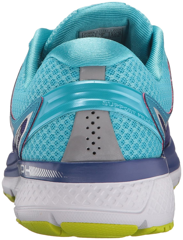 Saucony Women's Triumph Iso W 3 Running Sneaker B01GILJGRW 7.5 W Iso US|Purple/Blue/Citron 9ac223